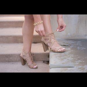 Sam Edelman Lace Up Block Heel Sandals